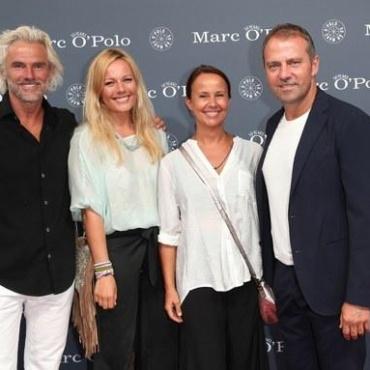 Бобби Декайсер с дочерью Каролиной, Ганс-Дитер Флик, с супругой Силке