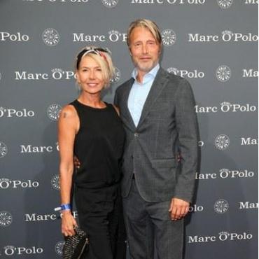 Мадс Миккельсен с женой Ханне Якобсен